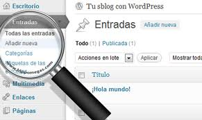 crear articulos wordpress